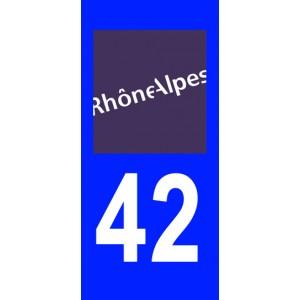 Autocollant loire 42 plaque immatriculation stickers for 42 haute loire