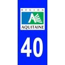 Autocollant Landes (40) plaque immatriculation