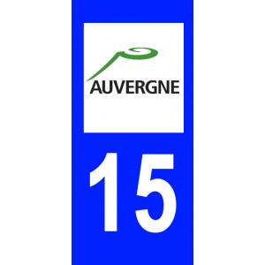 Autocollant Cantal (15) plaque immatriculation