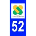 Autocollant Haute Marne (52) plaque immatriculation
