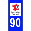 Autocollant Territoire de Belfort (90) plaque immatriculation