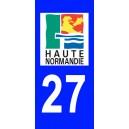 Autocollant Eure (27) plaque immatriculation