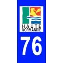 Autocollant Seine Maritime (76) plaque immatriculation