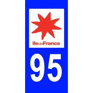 Autocollant Val d'Oise (95) plaque immatriculation