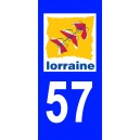 Autocollant Moselle (57) plaque immatriculation