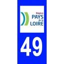 Autocollant Maine et Loire (49) plaque immatriculation