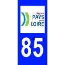Autocollant Vendée (85) plaque immatriculation