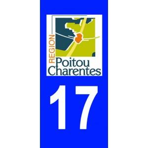 Autocollant Charente Maritime (17) plaque immatriculation