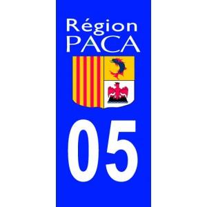 Autocollant Hautes Alpes (05) plaque immatriculation