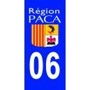 Autocollant Alpes Maritimes (06) plaque immatriculation