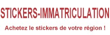Stickers immatriculation